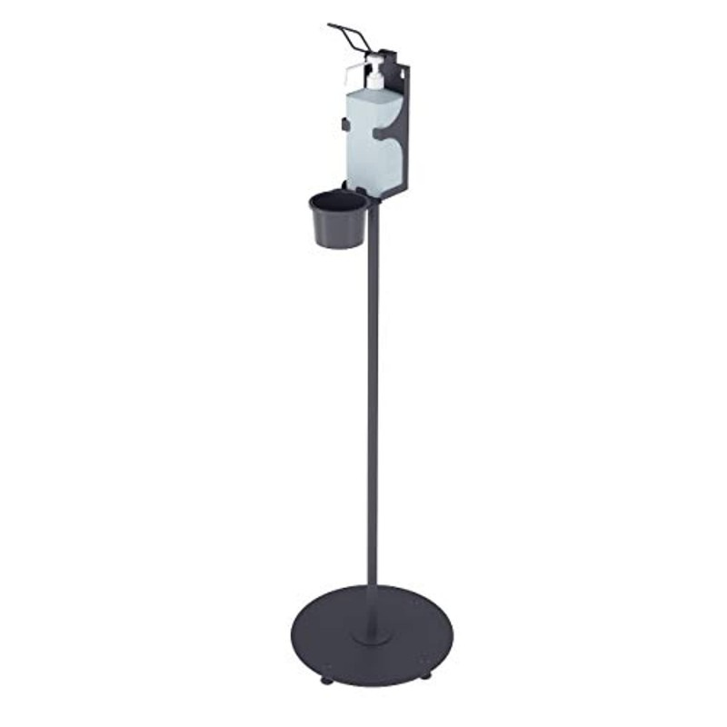 Magnet Ltd Disinfectant Stand for Hand Disinfectant - Column with Round Stand & Arm Lever Dispenser - Ideal Disinfectant Dispens